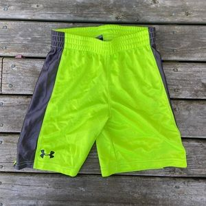Under Armour Youth Size 6 Shorts Neon Yellow